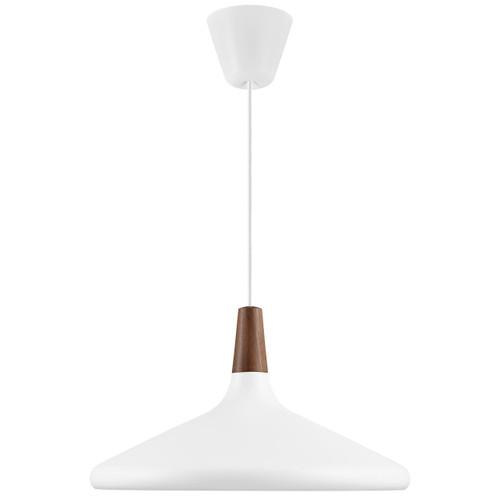 DFTP Nori 39 White Metal With Wood Pendant Light