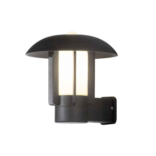 Heimdal Matt Black with Frosted Glass Outdoor IP44 Wall Light