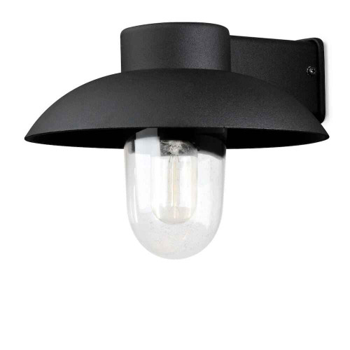 Mani Matt Black with Clear Glass Outdoor IP44 Wall Light