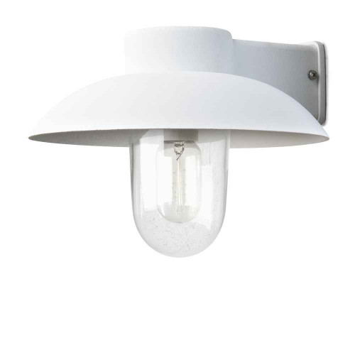 Mani Matt White with Clear Glass Outdoor IP44 Wall Light