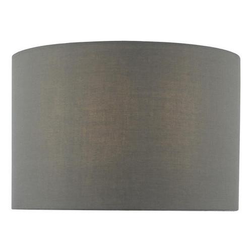 Dar Lighting Tuke 27cm Grey Cotton Drum Shade Only