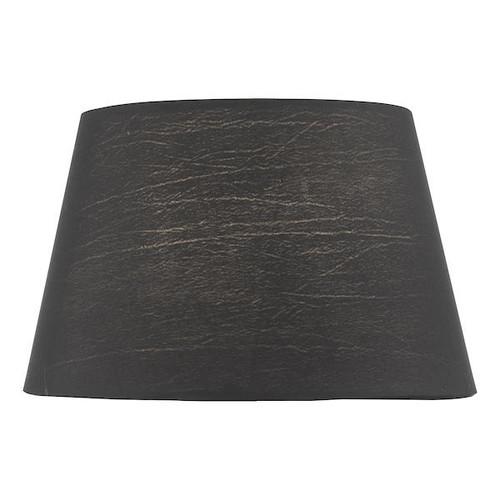 Dar Lighting Zira 18cm Black Faux Silk Candle Clip Shade Only
