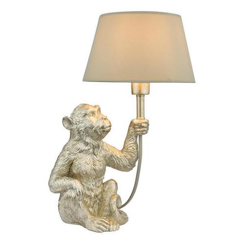Dar Lighting Zira Silver Monkey with Shade Table Lamp