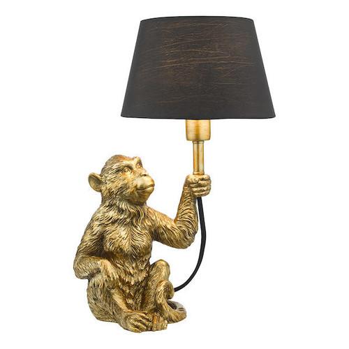 Dar Lighting Zira Gold Monkey with Shade Table Lamp