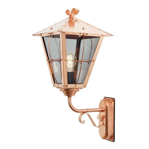 Fenix Up Copper with Clear Glass Outdoor IP23 Wall Light