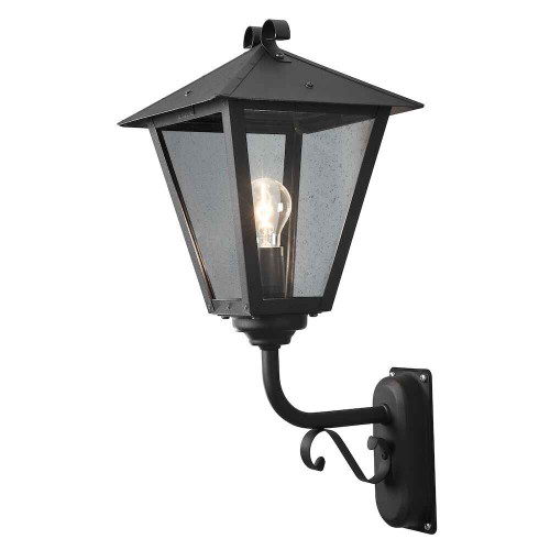 Benu up Black with Clear Glass Outdoor IP23 Wall Light