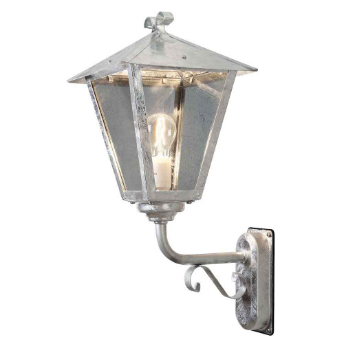 Benu up Galvanized with Clear Glass Outdoor IP23 Wall Light