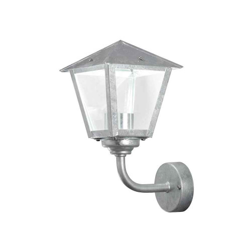 Benu Up Galvanized with Clear Glass LED Outdoor IP23 Wall Light