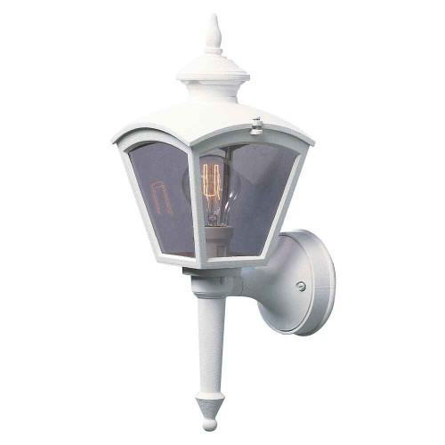 Cassiopeia Matt White with Clear Glass Outdoor IP23 Wall Light