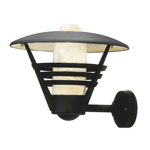 Gemini Matt Black with Opal Glass Outdoor IP23 Wall Light