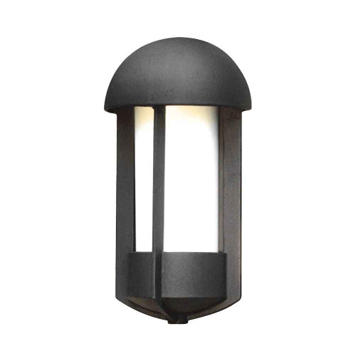Tyr Black Finish with Opal White Glass Outdoor IP23 Wall Light