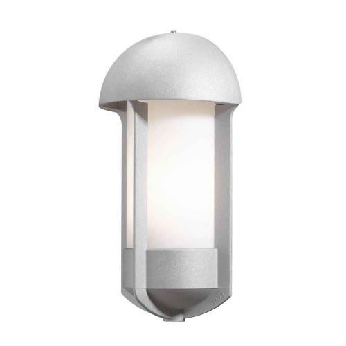 Tyr Grey Finish with Opal White Glass Outdoor IP23 Wall Light