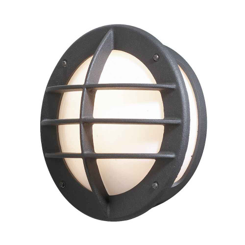 Oden Matt Black with Opal White Glass Outdoor IP23 Wall Light