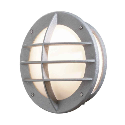 Oden Grey with Opal White Glass Outdoor IP23 Outdoor Wall Light