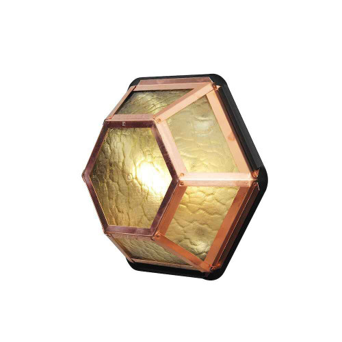 Castor 6 Copper + Amber Frosted Glass Wall Light