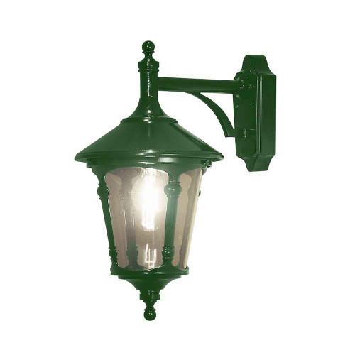 Virgo Down Green Outdoor Wall Light