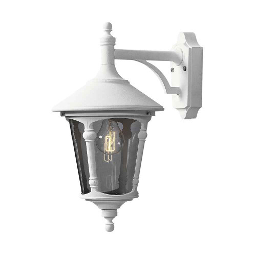 Virgo Down Matt White Outdoor Wall Light