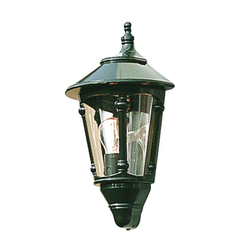 Virgo Green Aluminium Flush Half Lantern Wall Light
