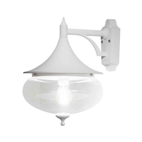 Libra Matt White Down Aluminium with Acrylic Globe Wall Light