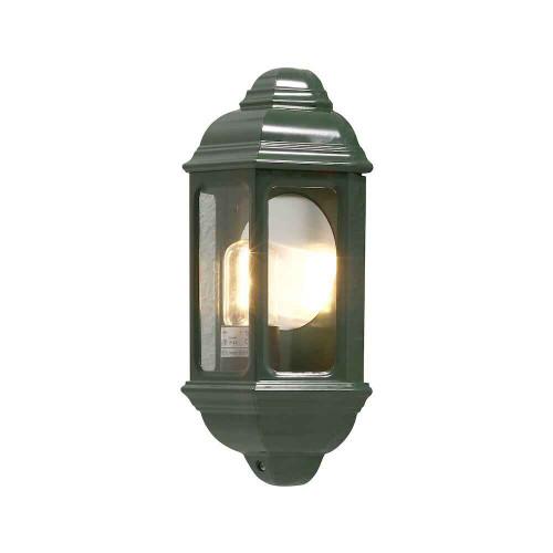 Cagliari green Aluminium Flush Half Lantern Wall Light