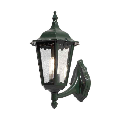 Firenze Up Shiny Green Aluminium with Clear Glass Wall Light