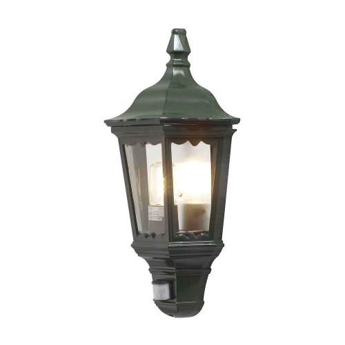 Firenze Green Sensor Aluminium Flush Half LanternWall Light