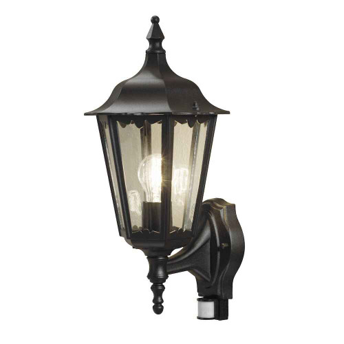 Firenze Up PIR Matt Black Aluminium Wall Light