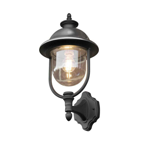 Parma Up Black Stainless Steel Wall Light