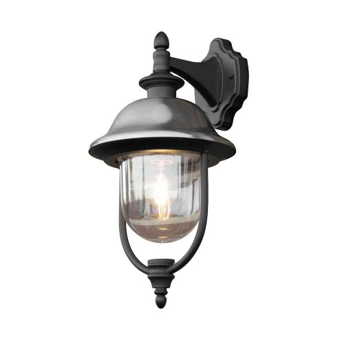 Parma Down Black Stainless Steel Wall Light