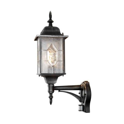 Milano Wall Lamp, up, black / silver