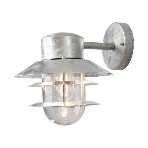 Modena Galvanized Steel with Clear Glass IP44 Wall Light