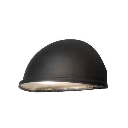 Torino Matt Black Aluminium with Clear Glass Wall Light