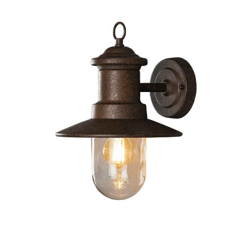 Napoli Rust Aluminium with Clear Glass Wall Light