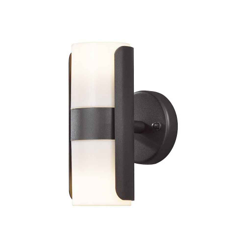 Modena Black Aluminium with Opal Shade Double Wall Light