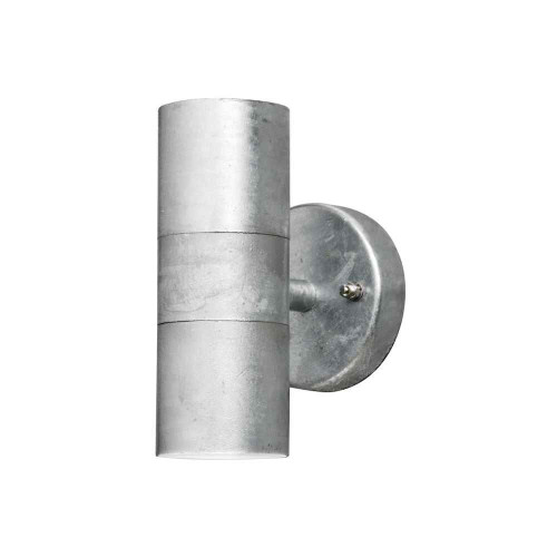 Modena Up + Down Galvanised Steel Wall Light