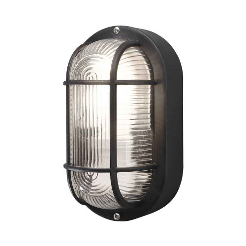 Elmas Black Plastic IP44 Wall Light