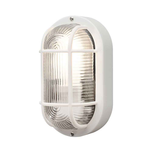 Elmas White Plastic IP44 Wall Light