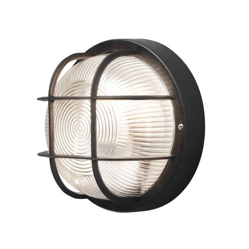Mantova Black Plastic IP44 Wall Light