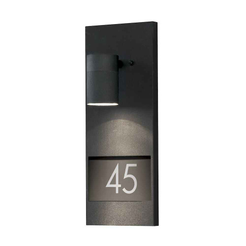 Modena House No. Black Aluminium Wall Light
