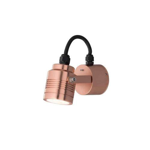 Monza Copper Aluminium Adjustable LED Wall Light
