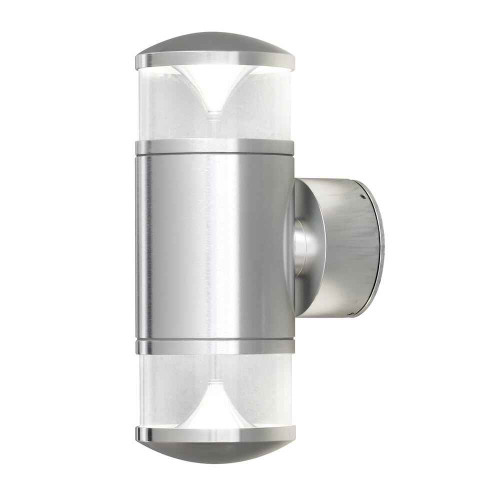 Monza Anodised Aluminium Double Reflector Double Wall Light