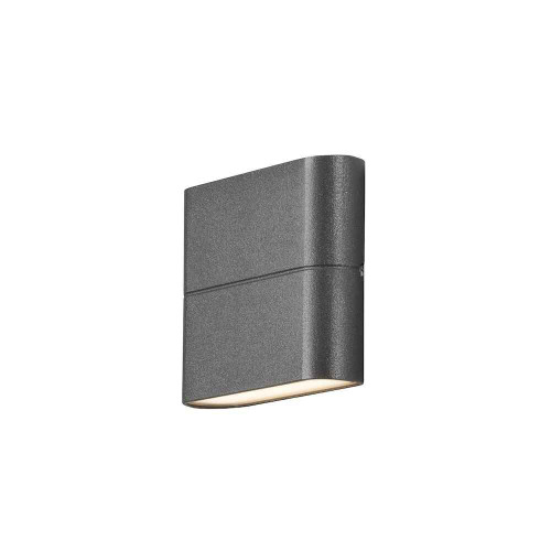 Chieri 2x3W Light Anthracite Grey Aluminium LED Wall Lamp