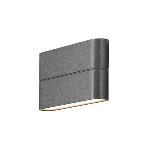 Chieri 2x6W Light Anthracite Grey Aluminium LED Wall Lamp