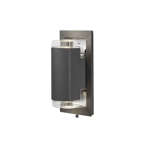 Potenza 2 Light Anthracite Grey Aluminium Wall Light