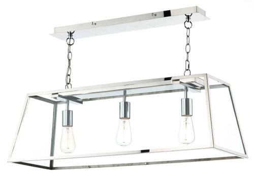 Academy 3 Light Stainless Steel Bar Pendant Light