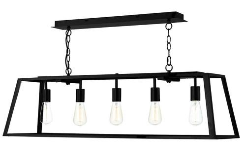 Academy 5 Light Black Bar Pendant Light