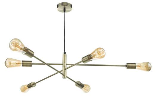 Alana 6 Light Antique Brass Pendant Light
