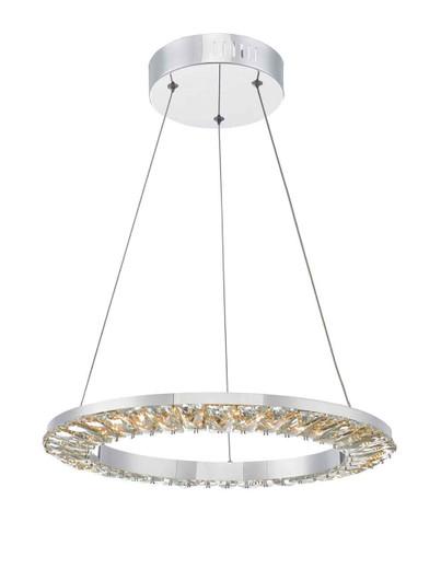 Altamura Polished Chrome and Crystal LED Pendant Light