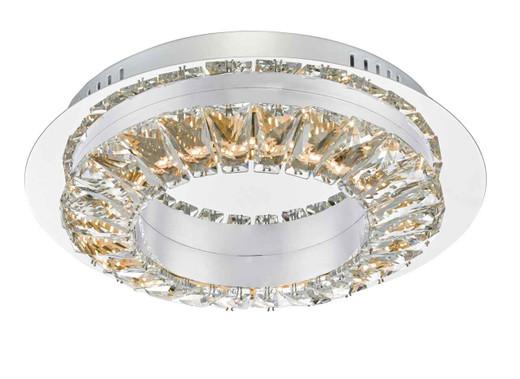 Altamura Stainless Steel and Crystal LED Flush Ceiling Light