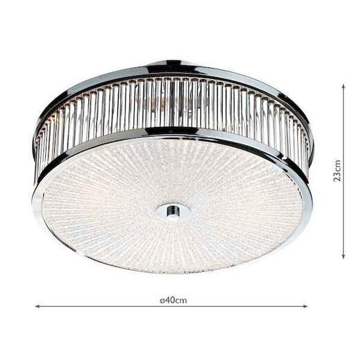 Aramis 3 Light Glass Flush Ceiling Light